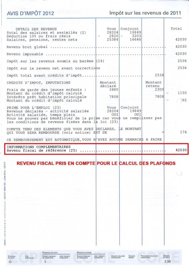 revenu fiscal2